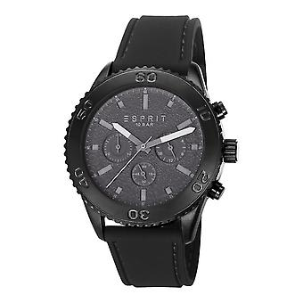 Esprit Herren Uhr Armbanduhr Chrono Marin Rider black Leder ES106871003