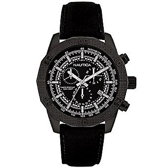 Nautica men's watch Chrono NAI17520G wristwatch leather
