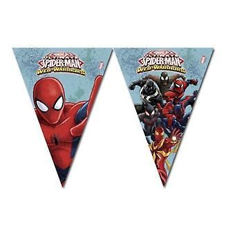 Wimpelkette Girlande Dekokette Spiderman Warriors Kinderparty Geburtstag 3m