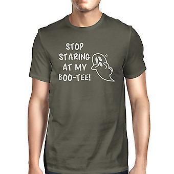 Pare de olhar meu Boo engraçado Mens gráfico camiseta Halloween trajes