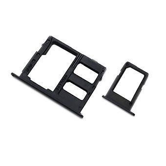 Voor Samsung Galaxy A6 A600 / A6 plus A605 2018 SIM kaarten houder SIM-lade SD kaart zwart