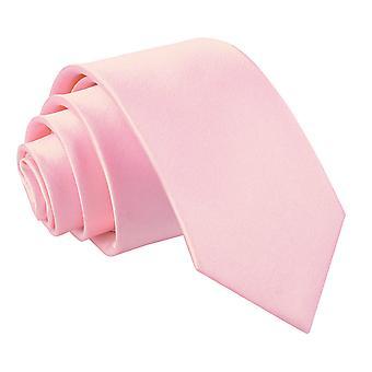 Baby Pink Plain Satin Regular Tie for Boys