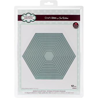 Creative Expressions Craft Dies By Sue Wilson-Noble-Double Stitched Hexagon 7