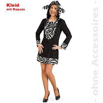 Mujer cebra traje caballo salvaje Vestido de cebra de la mujer con traje de campana África
