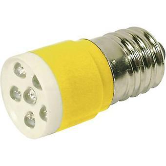 CML LED bulb E14 Yellow 24 Vdc, 24 V AC 1050 mcd 18646352 axis C