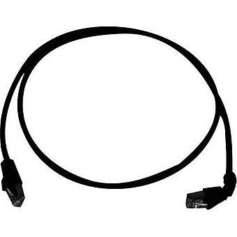 Telegärtner RJ45 Netzwerke Kabel CAT 6A S/FTP 2 m schwarz schwer entflammbar, halogenfrei