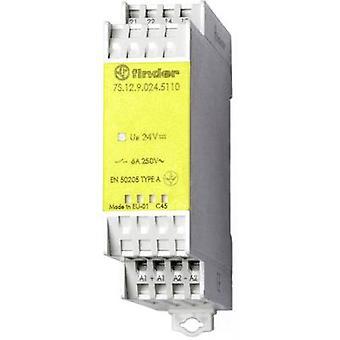 Finder 7S.12.9.024.5110 - Moduł przekaźnika 6A z przymusowego z przewodnikiem styki SPST-NO, Rozwierne 250V AC IP20