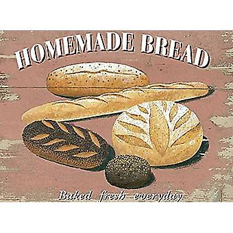 Домашний хлеб большой металлический знак 400 X 300 мм