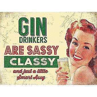 Gin-Trinker sind frech gestolperten Marmor Getränke Untersetzer