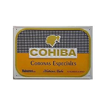 Cohiba Coronas cigarer præget Metal tegn
