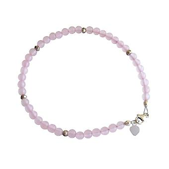 Gemshine - ladies - bracelet - 925 Silver - Rose Quartz - pink