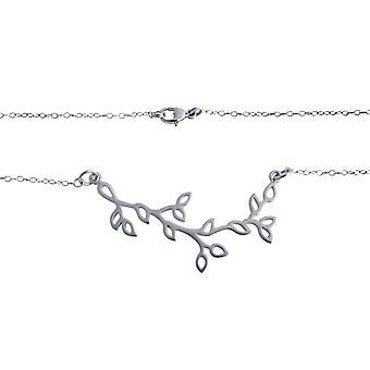 Blatt - Kette - Blätter - silber - Halskette -  925 Silber – Blatt – 45 cm
