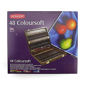 Derwent Coloursoft Colouring Pencils 48 Wooden Box