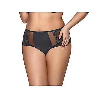 Gorsenia K440 Women's Dorothy Grey Solid Colour Knickers Panty Full Brief