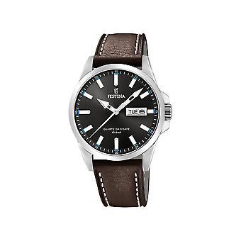 FESTINA - Armbanduhr - Herren - F20358-1 - Lederband klassisch - Klassik