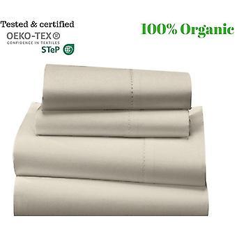 1000 Tc-100% Egyptian Cotton Bed Sheet Set-ivory