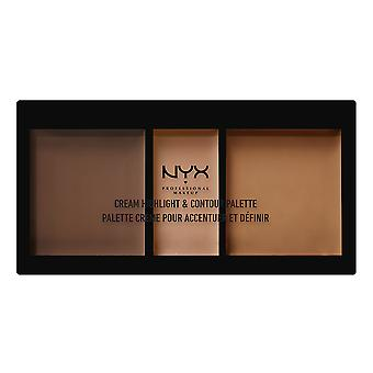 NYX Prof. Make-up Creme Highlight & Kontur-Palette tief