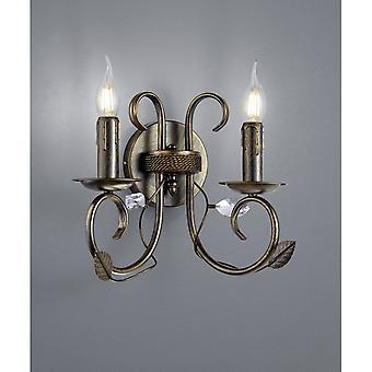 Trio Lighting Classy Authentic Antique Rust Metal Wall Lamp