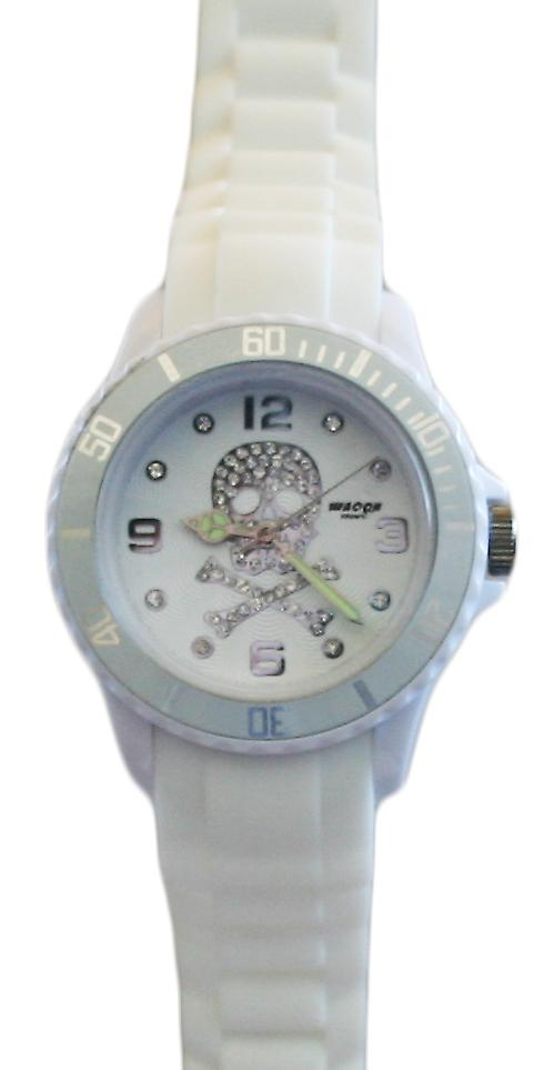 Waooh - Watch SKULL 38 Silicone White