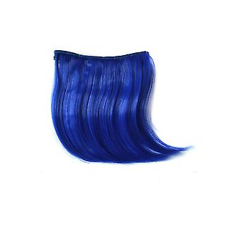 TRIXES Clip in Fringe Hair Bangs Wig Extension- Beauty Styling Accessory -Electric Blue Colour