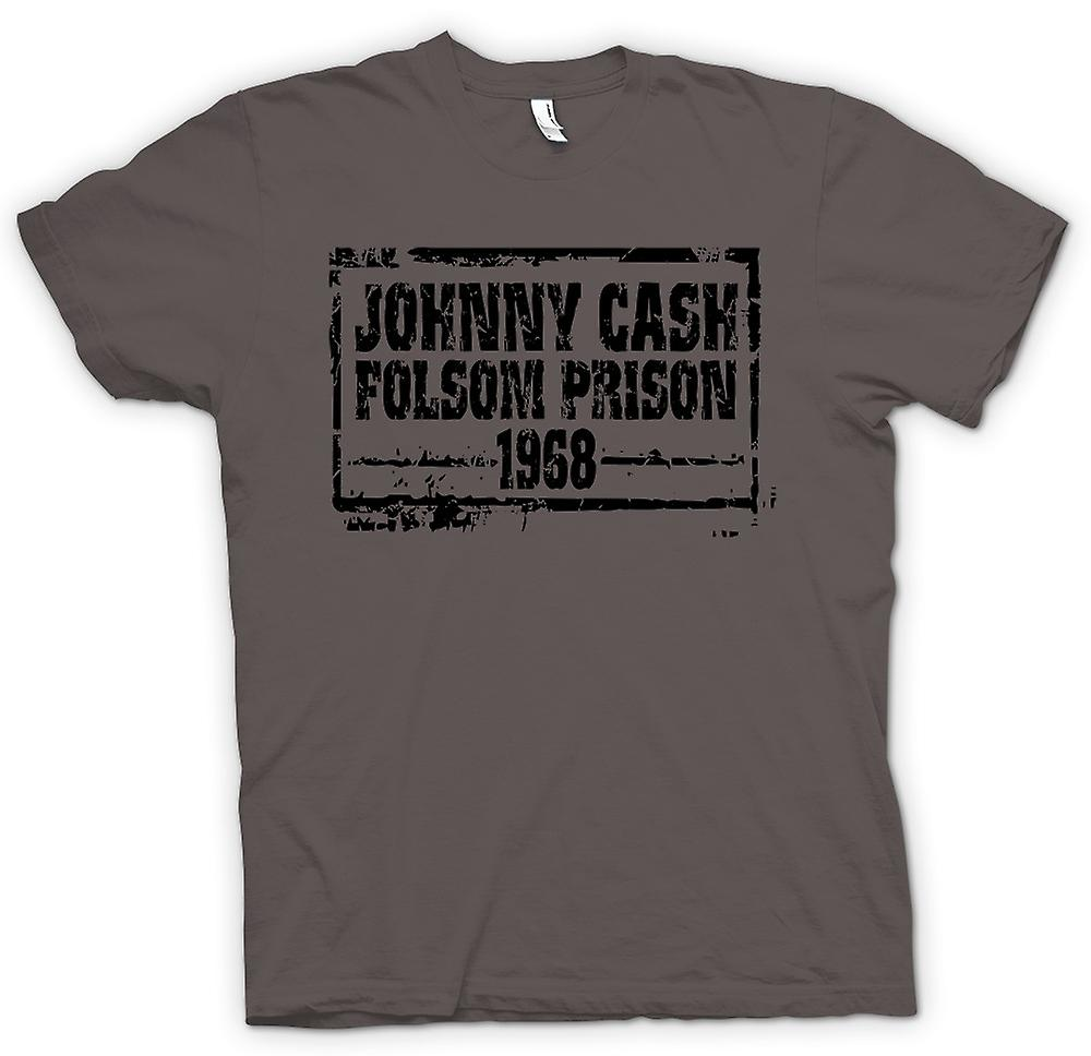 Womens T-shirt - Johnny Cash Folsom Prison 68 - land legende