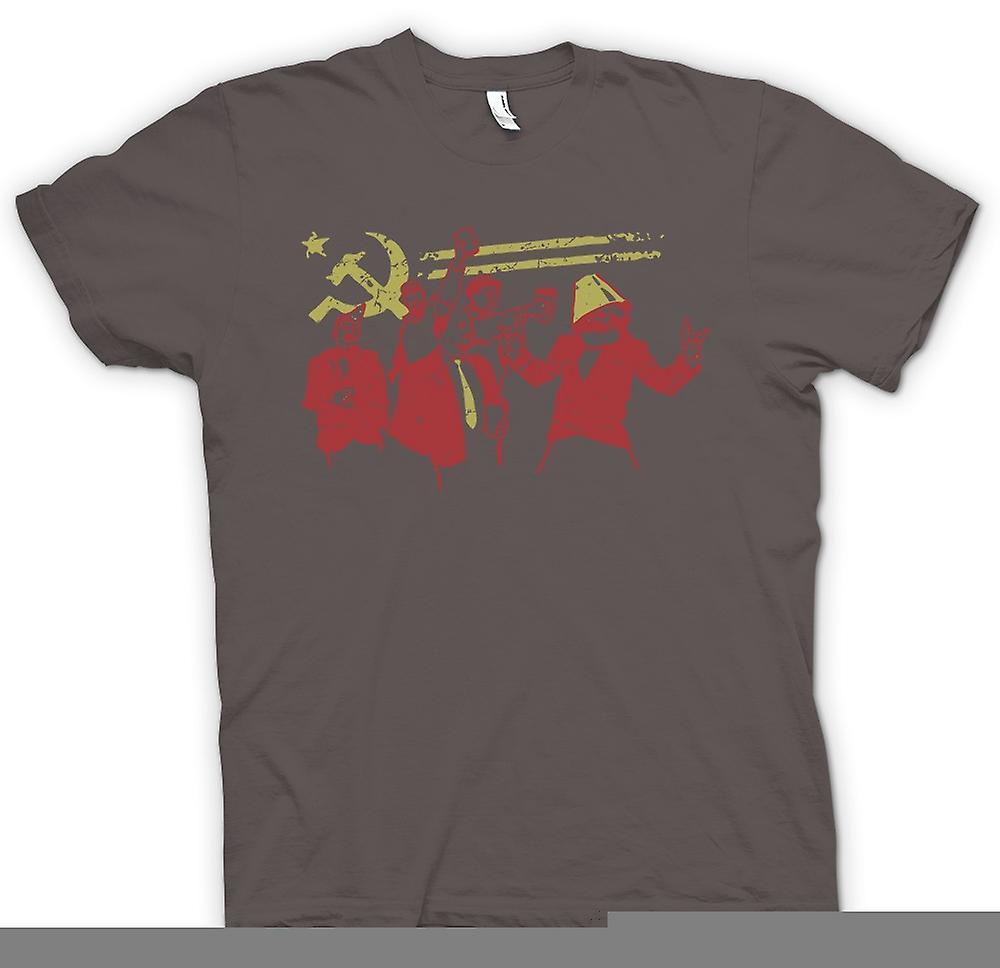 Mens t-skjorte - kommunisme - Marx Lenin Stalin - Russland
