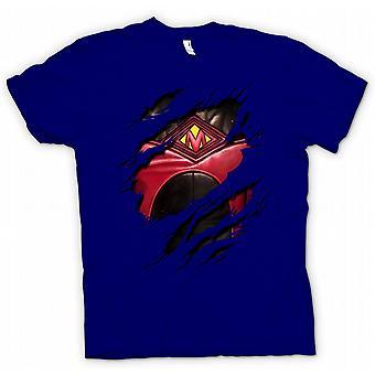 Womens T-shirt - Red Mist Ripped Design - Kickass Inspired Superhero