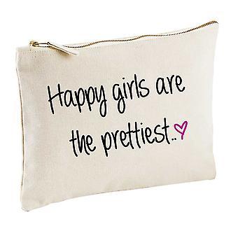 Glücklichste Mädchen sind der schönste natürliche Kosmetik Tasche