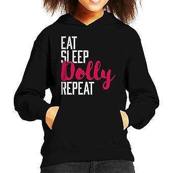 Essen Sie Schlaf Dolly wiederholen Kinder Sweatshirt mit Kapuze