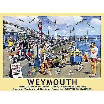 Weymouth (old British Rail ad.) 90mm x 65mm fridge magnet  (og)