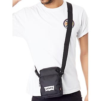 Levis Black L Series Small Cross Body - Batwing Logo Messenger Bag