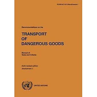 Aanbevelingen inzake het vervoer van gevaarlijke goederen: handmatige van testen en criteria, amendement 1 (aanbevelingen inzake het vervoer van gevaarlijke goederen: handmatige van testen en criteria)