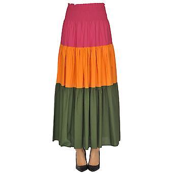 Pinko Multicolor Cotton Skirt
