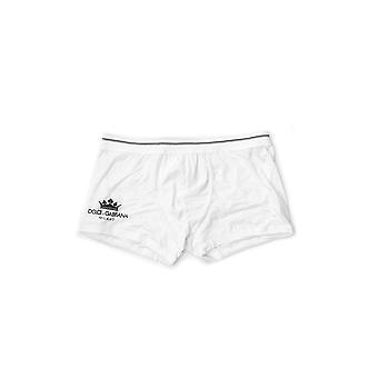 Dolce E Gabbana White Cotton Boxer