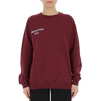 Semi-couture Camilla Burgundy Cotton Sweatshirt