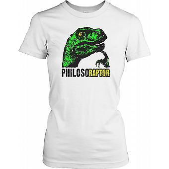 Philosoraptor głowy Panie T Shirt