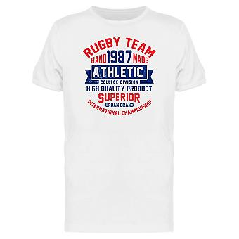 Rugby Team 1987 Athletic Tee Men's -Image by Shutterstock