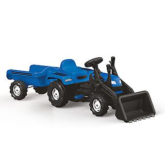 Dolu Kids Children's Ride On Tractor with Removable Trailer Digger with Working Horn Vibrant Design - 3+ Years