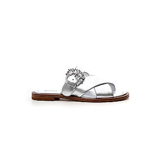 Michael Kors Silver Leather Sandals