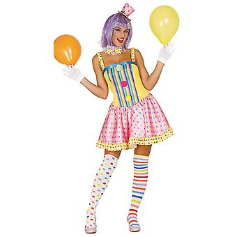 Womens taches & Stripes Clown Costume de déguisements