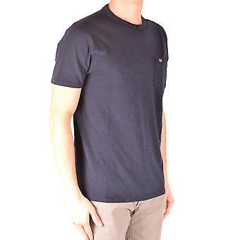 Napapijri Blue Cotton T-shirt