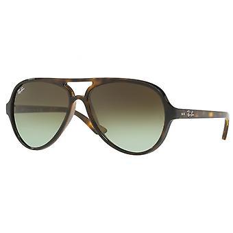 Ray Ban occhiali da sole gatti 0rb4125 710/a6 59 Green Tortoise occhiali da sole gradiente