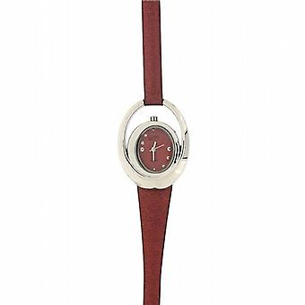 Eton Concentric Circles Metallic Rust Strap Ladies Fashion Watch 3006L