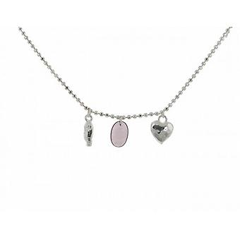 Cavendish French Sterling Silver Necklace with Silver and Amethyst Charms