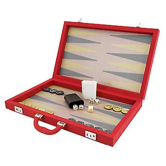 Dal Negro Luxury Composite Backgammon Case Red