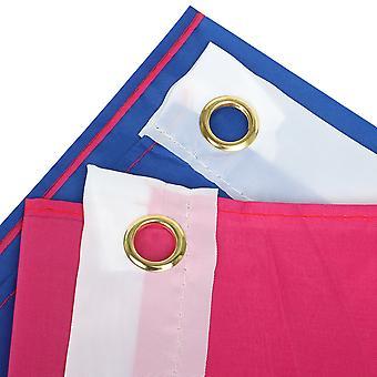 TRIXES Bandera Bisexual Celebran Diversidad Bi Orgullo y Festivales 5FT x 3FT