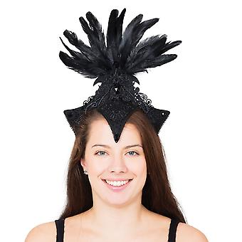 Bristol Novelty Unisex Adults Black Burlesque Headpiece
