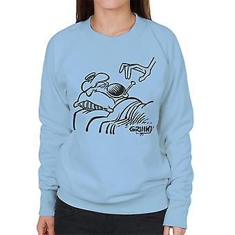 Grimmy Sick In Bed Women's Sweatshirt