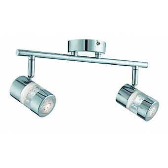 LED 2 lys badeværelse Spotlight Bar Chrome Ip44