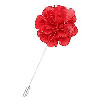 Red Plain Satin Lapel Pin
